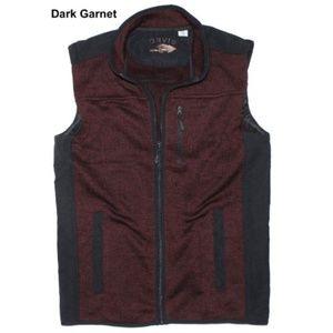 New Orvis Men's Fleece Lined Sweater Vest in Red L